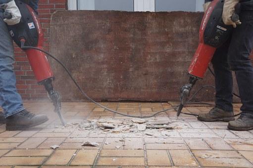 bezpyłowe wiercenie betonu