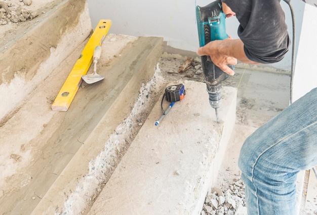 bezpyłowe wiercenie w betonie